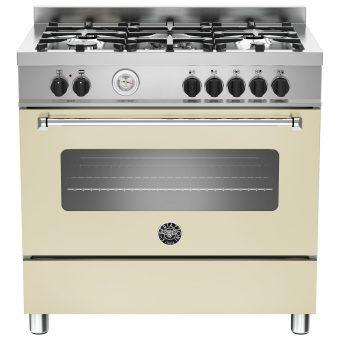 Bertazzoni MAS905MFES Dual Fuel Single Range Cooker Cream