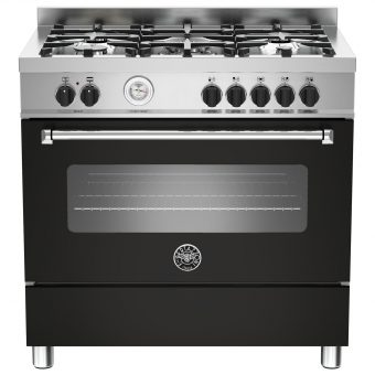 Bertazzoni MAS905MFES Dual Fuel Single Range Cooker Matt Black