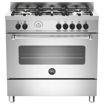 Bertazzoni MAS905MFES Dual Fuel Single Range Cooker Stainless Steel
