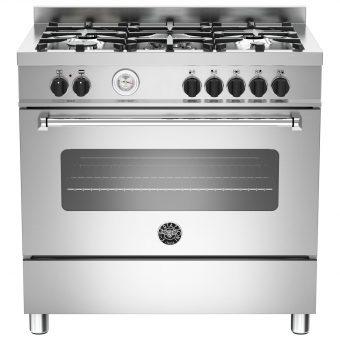 Bertazzoni MAS905MFES Dual Fuel Single Range Cooker Stainless Steel