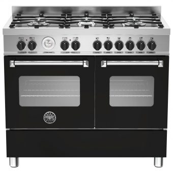 Bertazzoni Master Series Twin Dual Fuel Range Cooker Matt Black