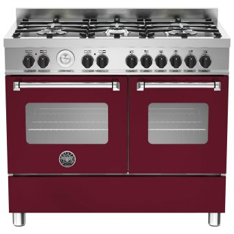 Bertazzoni Master Series Twin Dual Fuel Range Cooker Matt Burgundy