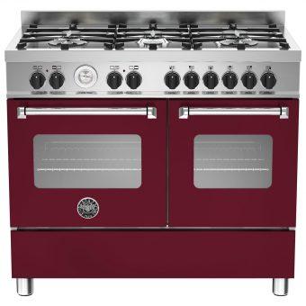 Bertazzoni Master Series Twin Dual Fuel Range Cooker Matt Burgundy