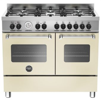 Bertazzoni Master Series Twin Dual Fuel Range Cooker Matt Cream