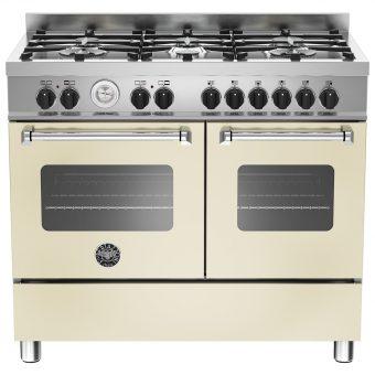 Bertazzoni Master Series Twin Dual Fuel Range Cooker Matt Cream
