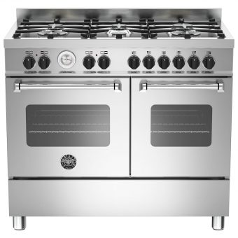 Bertazzoni Master Series Twin Dual Fuel Range Cooker Stainless Steel