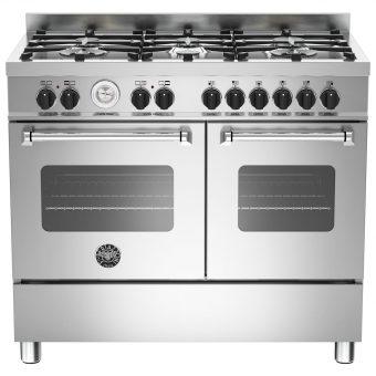 Bertazzoni Master Series Twin Dual Fuel Range Cooker Stainless Steel