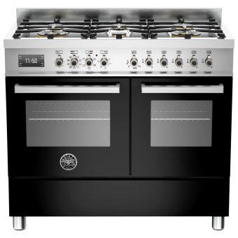 Bertazzoni Professional Series 100cm Dual Fuel Range Cooker Black