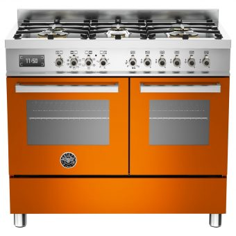 Bertazzoni Professional Series 100cm Dual Fuel Range Cooker Orange