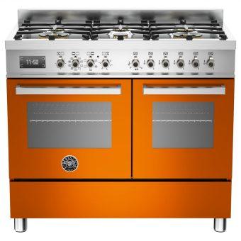 Bertazzoni Professional Series 100cm Dual Fuel Range Cooker Orange
