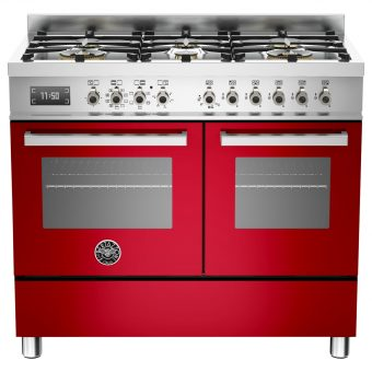 Bertazzoni Professional Series 100cm Dual Fuel Range Cooker Red