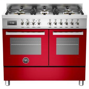 Bertazzoni Professional Series 100cm Dual Fuel Range Cooker Red