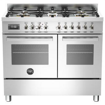 Bertazzoni Professional Series 100cm Dual Fuel Range Cooker Stainless Steel