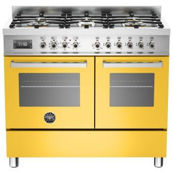 Bertazzoni Professional Series 100cm Dual Fuel Range Cooker Yellow