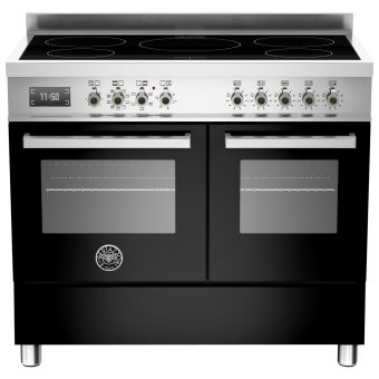 Bertazzoni Professional Series 100cm Electric Induction Range Cooker Black