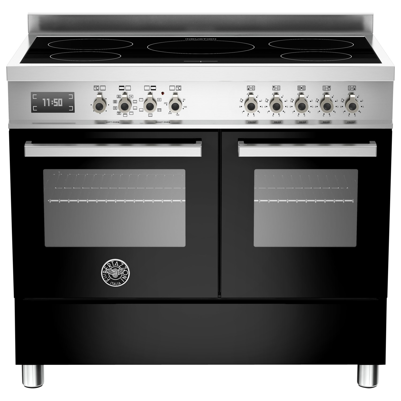 Bertazzoni Professional Series 100cm Electric Induction Range Cooker Black