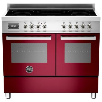 Bertazzoni Professional Series 100cm Electric Induction Range Cooker Burgundy