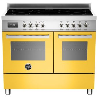 Bertazzoni Professional Series 100cm Electric Induction Range Cooker Yellow