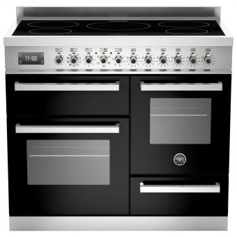 Bertazzoni Professional Series 100cm Electric Induction XG Range Cooker Black