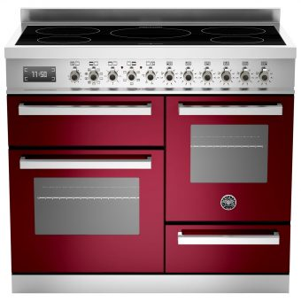 Bertazzoni Professional Series 100cm Electric Induction XG Range Cooker Burgundy