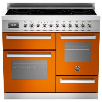 Bertazzoni Professional Series 100cm Electric Induction XG Range Cooker Orange