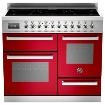 Bertazzoni Professional Series 100cm Electric Induction XG Range Cooker Red