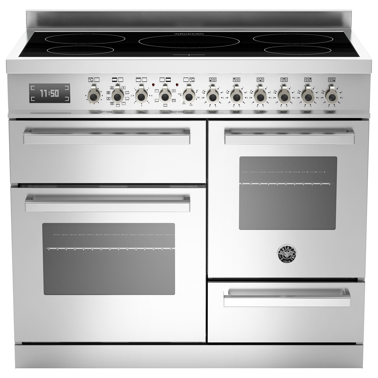 Bertazzoni Professional Series 100cm Electric Induction XG Range Cooker Stainless Steel