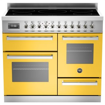 Bertazzoni Professional Series 100cm Electric Induction XG Range Cooker Yellow