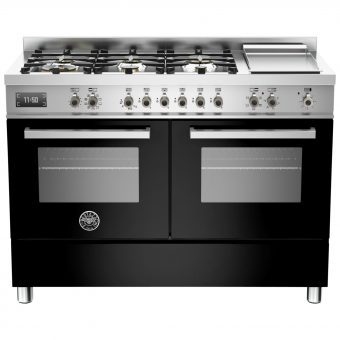 Bertazzoni Professional Series 120cm Dual Fuel Twin Range Cooker Black
