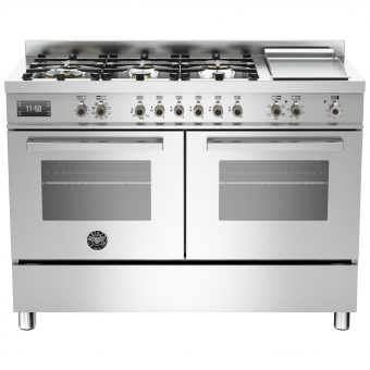 Bertazzoni Professional Series 120cm Dual Fuel Twin Range Cooker Stainless Steel