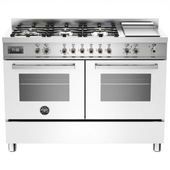 Bertazzoni Professional Series 120cm Dual Fuel Twin Range Cooker White