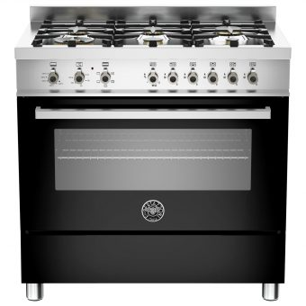 Bertazzoni Professional Series 90cm Dual Energy Single Range Cooker Black