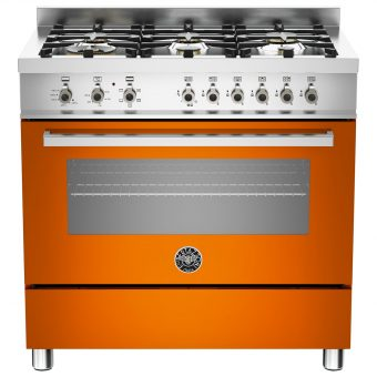 Bertazzoni Professional Series 90cm Dual Energy Single Range Cooker Orange