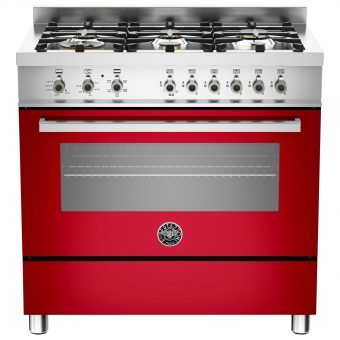Bertazzoni Professional Series 90cm Dual Energy Single Range Cooker Red