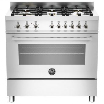 Bertazzoni Professional Series 90cm Dual Energy Single Range Cooker Stainless Steel