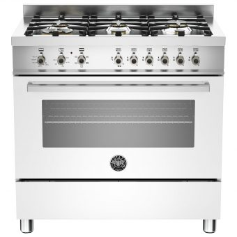 Bertazzoni Professional Series 90cm Dual Energy Single Range Cooker White