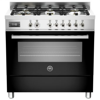 Bertazzoni Professional Series 90cm Dual Fuel Single Range Cooker Black