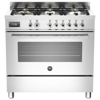 Bertazzoni Professional Series 90cm Dual Fuel Single Range Cooker Stainless Steel