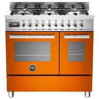 Bertazzoni Professional Series 90cm Dual Fuel Twin Range Cooker Orange