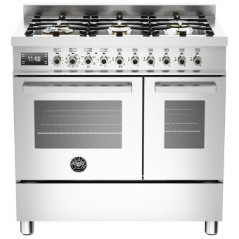 Bertazzoni Professional Series 90cm Dual Fuel Twin Range Cooker Stainless Steel