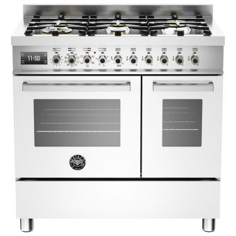 Bertazzoni Professional Series 90cm Dual Fuel Twin Range Cooker White
