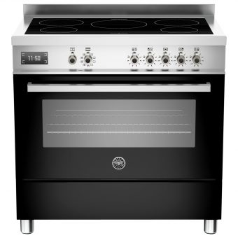 Bertazzoni Professional Series 90cm Electric Induction Single Range Cooker Black