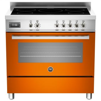 Bertazzoni Professional Series 90cm Electric Induction Single Range Cooker Orange