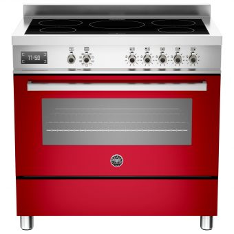 Bertazzoni Professional Series 90cm Electric Induction Single Range Cooker Red