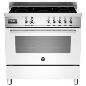 Bertazzoni Professional Series 90cm Electric Induction Single Range Cooker White