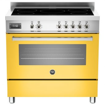 Bertazzoni Professional Series 90cm Electric Induction Single Range Cooker Yellow