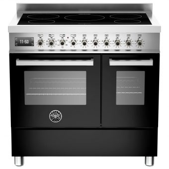 Bertazzoni Professional Series 90cm Electric Induction Twin Range Cooker Black