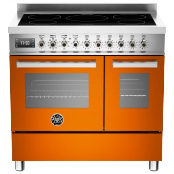 Bertazzoni Professional Series 90cm Electric Induction Twin Range Cooker Orange