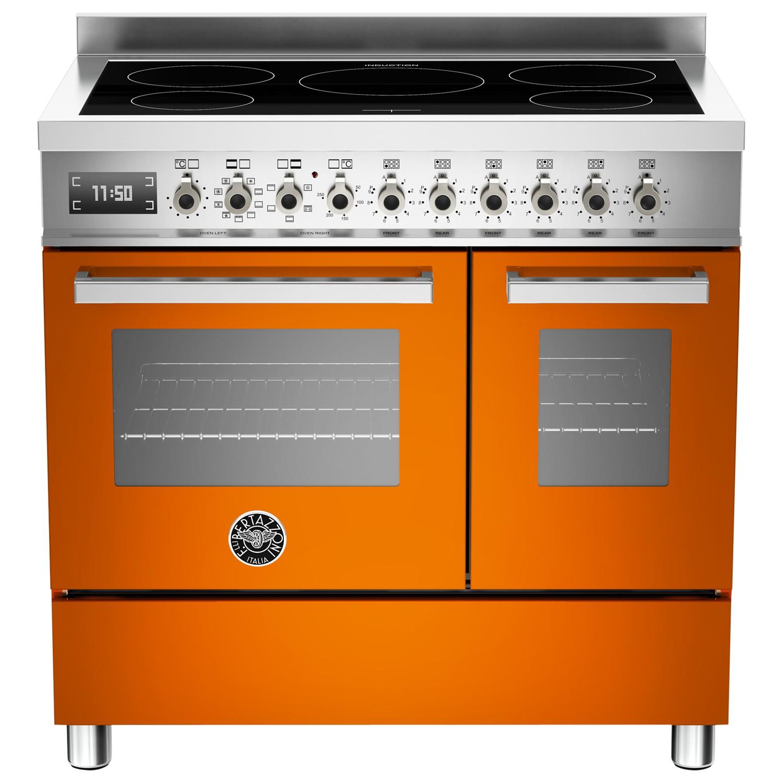 Bertazzoni Professional Series 90cm Electric Induction Twin Range Cooker Orange