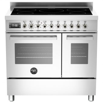 Bertazzoni Professional Series 90cm Electric Induction Twin Range Cooker Stainless Steel